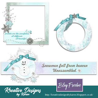 BLOG FREEBIE -SNOWDAYS- 2 CLUSTER FRAMES AND PAGE BORDER