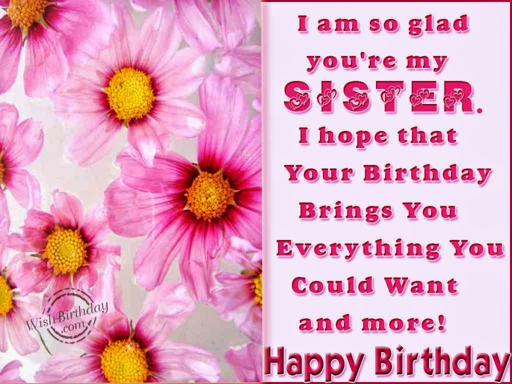 Birthday wishes for elder sister in english - Wishes and ...