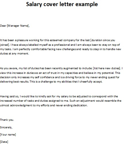 Salary cover letter example for Best cover letter samples 2013
