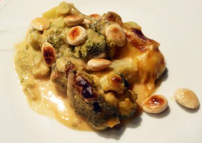 Brócoli con crema de patata y pimentón