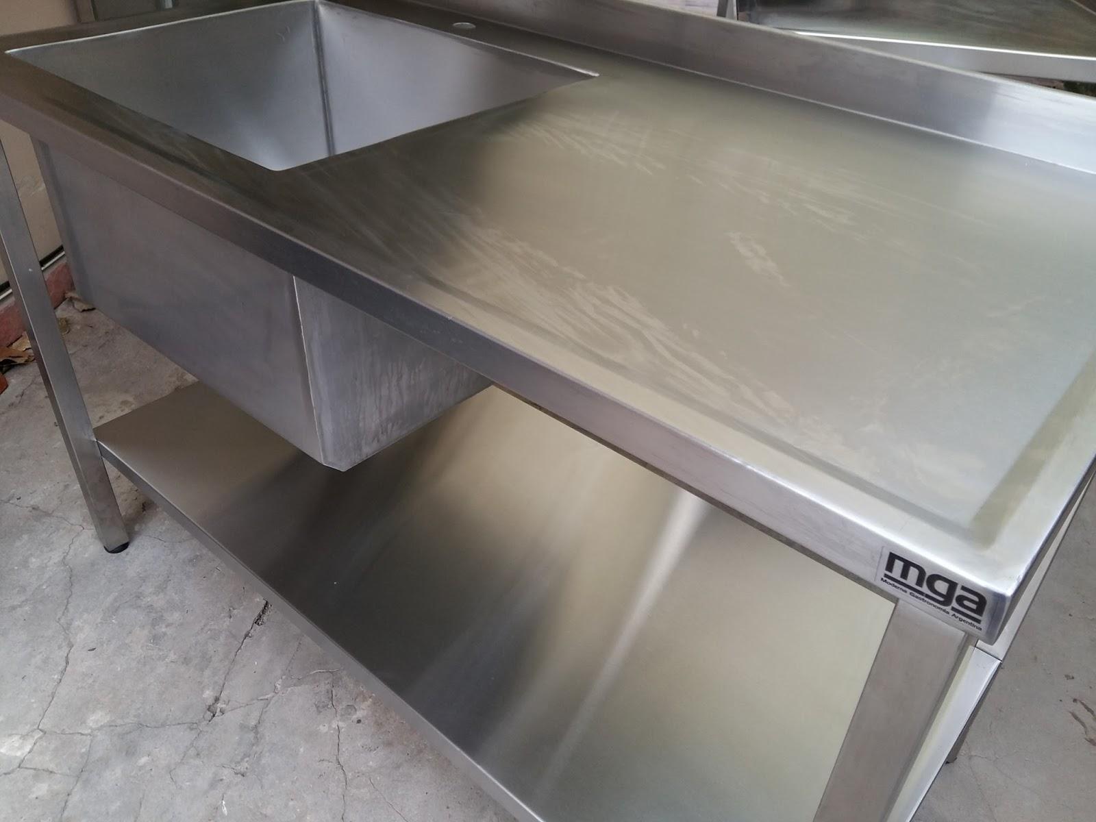 Cocinas Industriales Familiares Mesadas De Acero Inoxidable Y  # Muebles Net Buenos Aires
