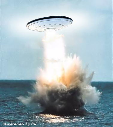 UFO Rising from Ocean