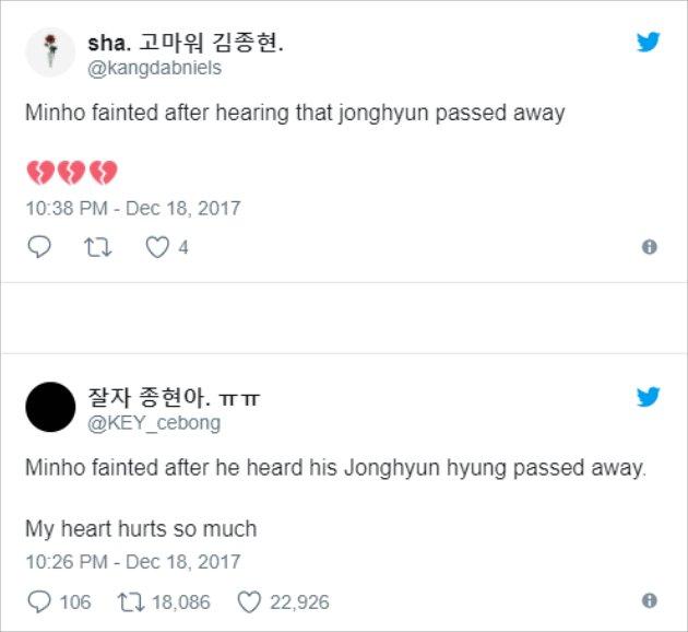 Shock Jonghyun Died, Witnesses Reveal Minho SHINee Fainting