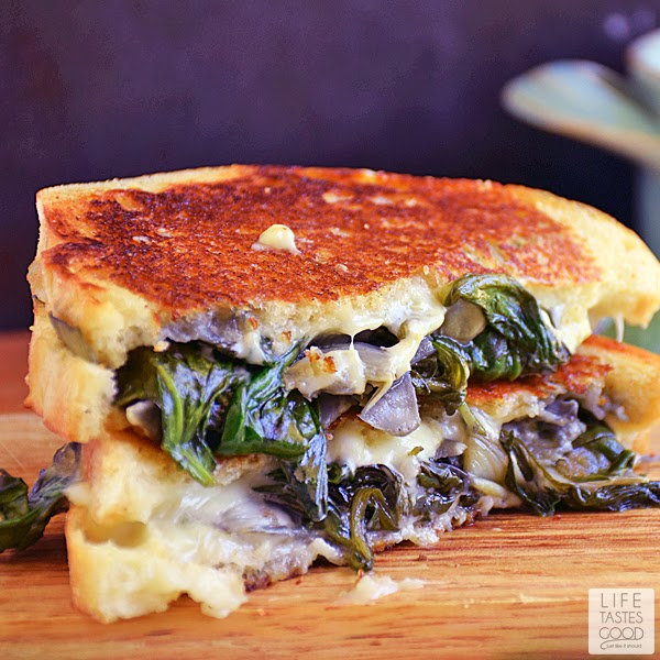 Spinach Artichoke Grilled Cheese | by Life Tastes Good