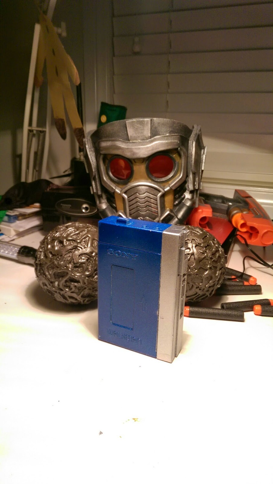 Guardians of the Galaxy Star Lord helmet, orb, Walkman