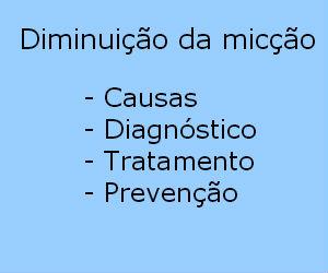 Diminuição da micção causas sintomas tratamento