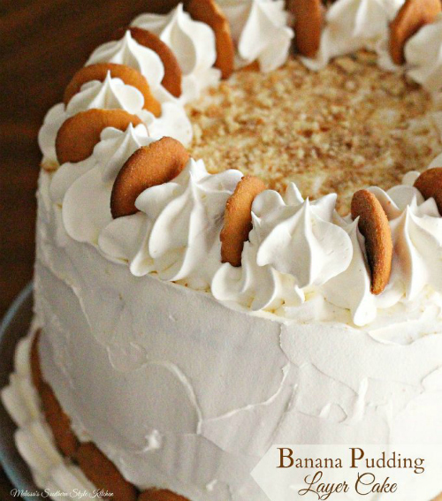 Banana Pudding Layer Cake by Melissa's Southern Style Kitchen