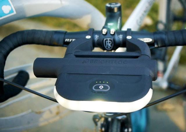 BrightLoc bike light and lock