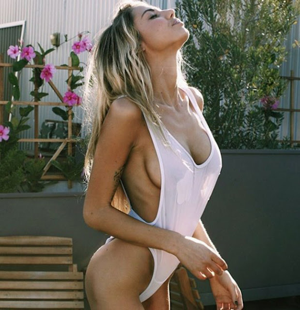 Hot girls Sahara Ray sexy skinny Justin Bieber's girlfriend 8