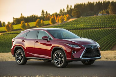 2016 Hybrid Edition Lexus RX350 and RX450  front view