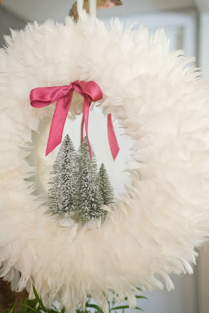 Feather Christmas Wreath