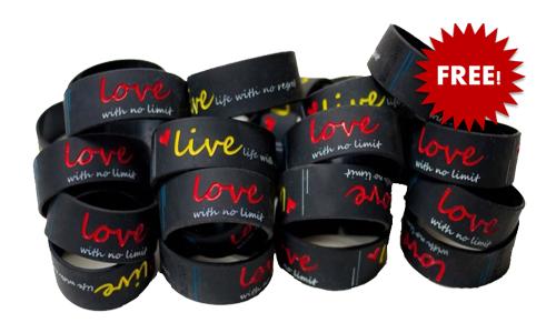 FREE Live. Love. Wristband, Live. Love. Wristband For FREE, Live. Love. Wristband