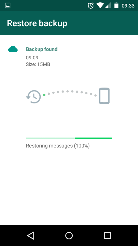 Mengembalikan chat WhatsApp dari Google Drive