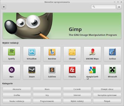 Menadżer oprogramowania w Linux Mint 18.3 Sylvia
