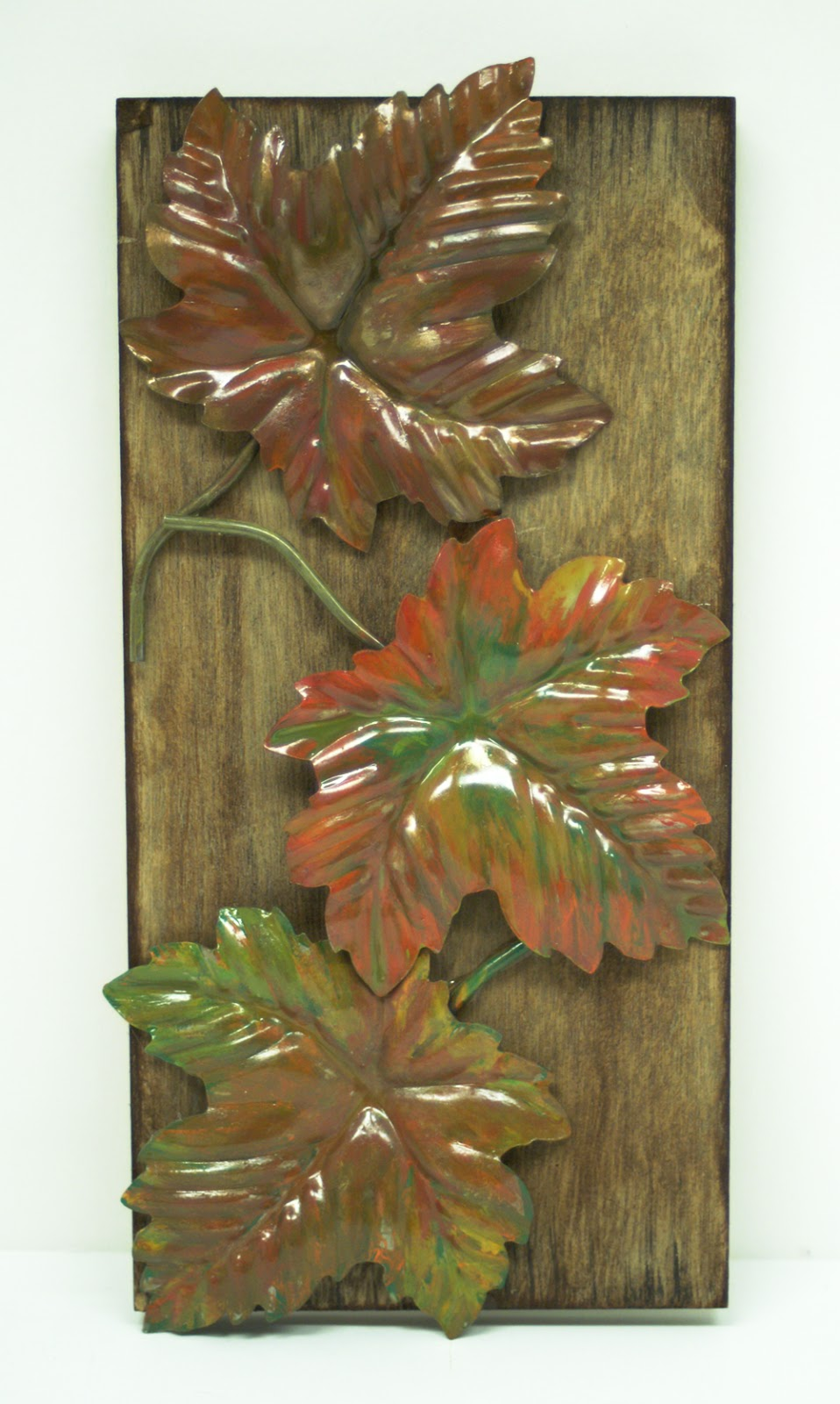 Falling Leaves Wall Decor : Ben franklin crafts and frame diy fall leaves pallet
