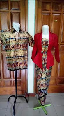 Model Baju Batik Sarimbit Lebaran Terbaru Merah