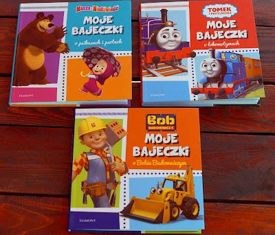 Masza, ciuchcia Tomek i Bob budowniczy w mini wydaniu- moje bajeczki Egmont