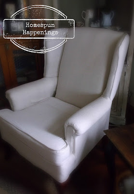 Reupholstered Wing Chair
