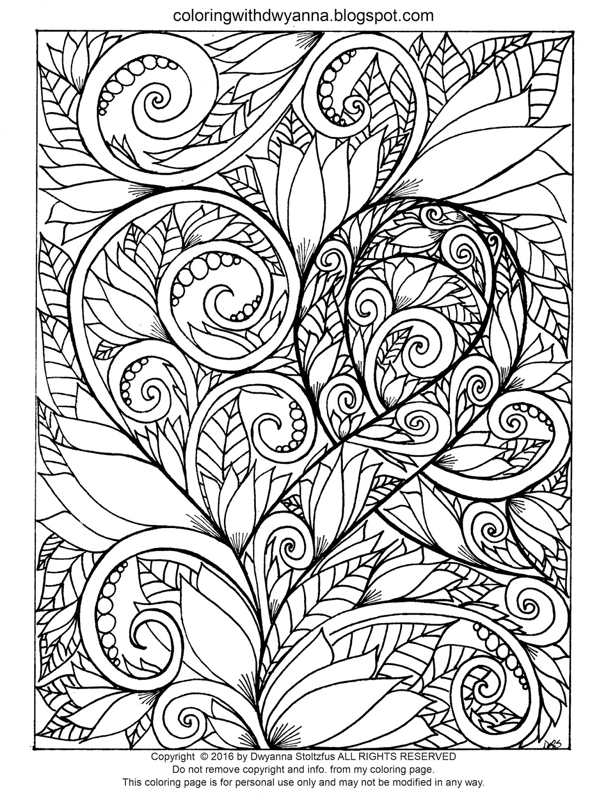 The Free Coloring Pages I Post On This Website MAY NOT BE SHARED