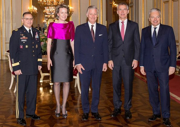 King Philippe and Queen Mathilde hosted the New Year's reception for the North Atlantic Treaty Organization