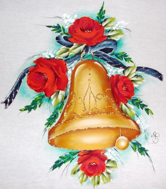 pintura em tecido natal