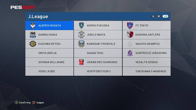 PES 2017 MLS and J.LEAGUE for PTE Patch 2.1 compatibilty with Patch 1.02.00 and DLC 2 by RTPES