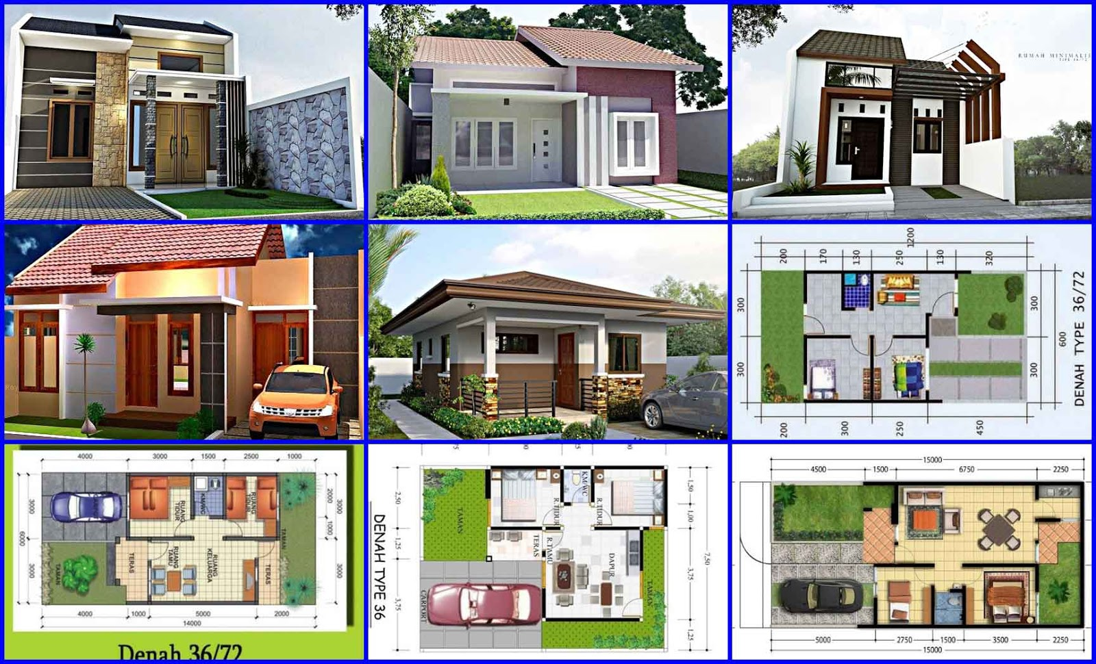 10 Contoh Denah Desain Rumah Minimalis Type 36 2 Kamar Tidur
