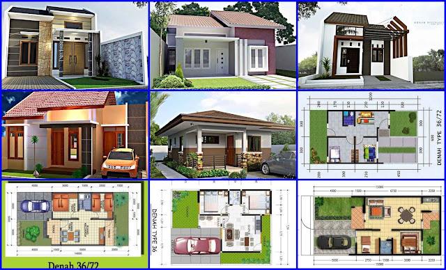 Gambar Denah dan Desain Rumah Minimalis Type 36
