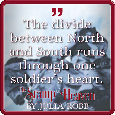 Quote text: The divide between North and South runs through one soldier's heart.""