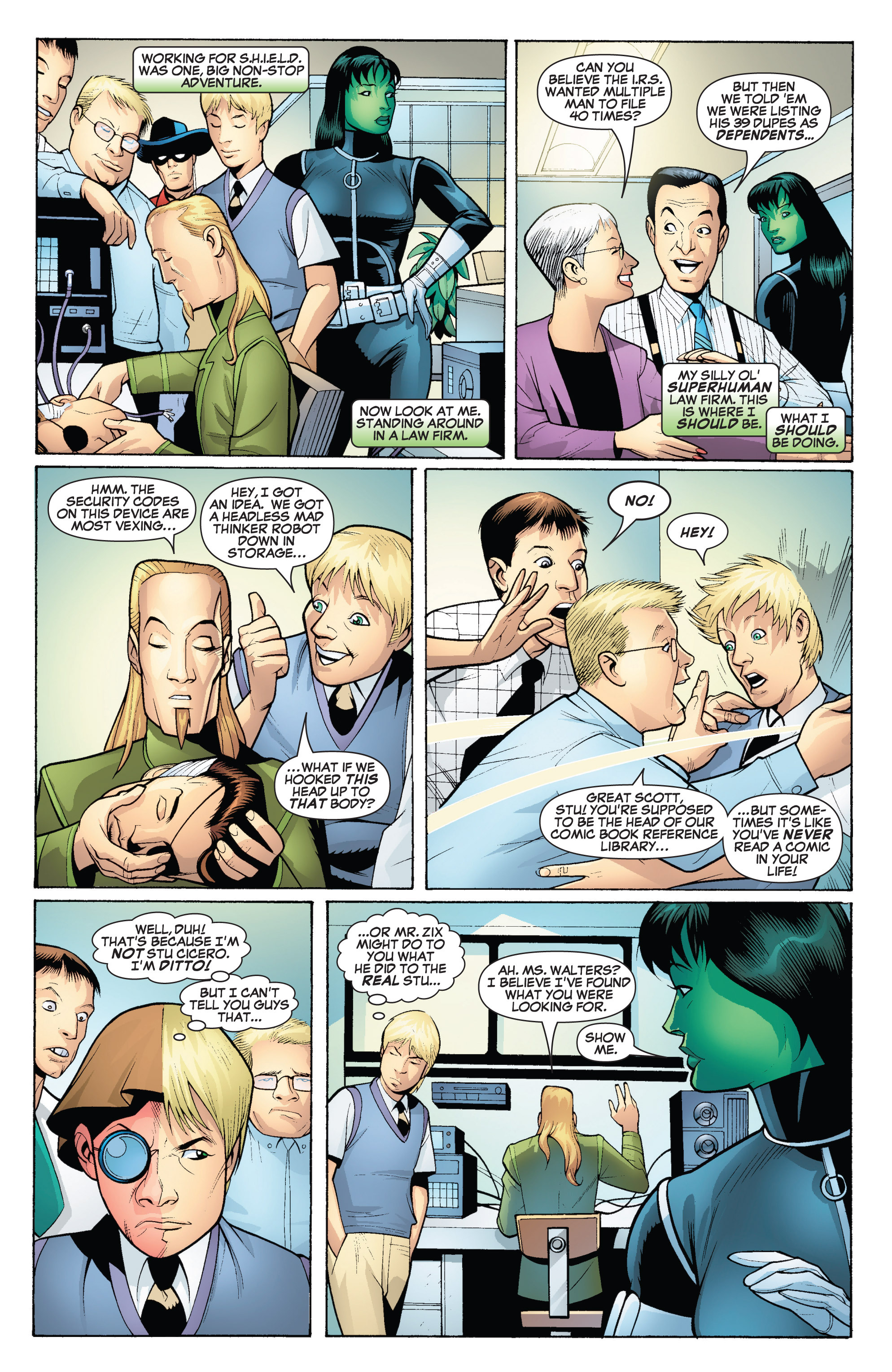 Read online She-Hulk (2005) comic -  Issue #18 - 7