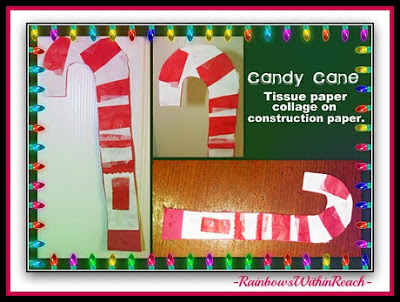 photo of: Candy Cane Collage at PreK+K Sharing