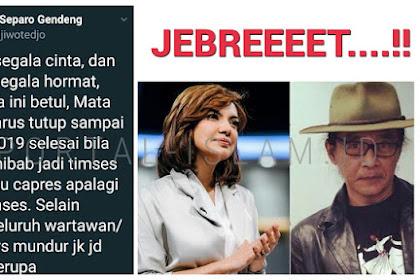 Jadi Kandidat Timses Jokowi, Sudjiwo Tedjo: Mata Najwa Harus Tutup Sampai Pilpres 2019 Selesai!