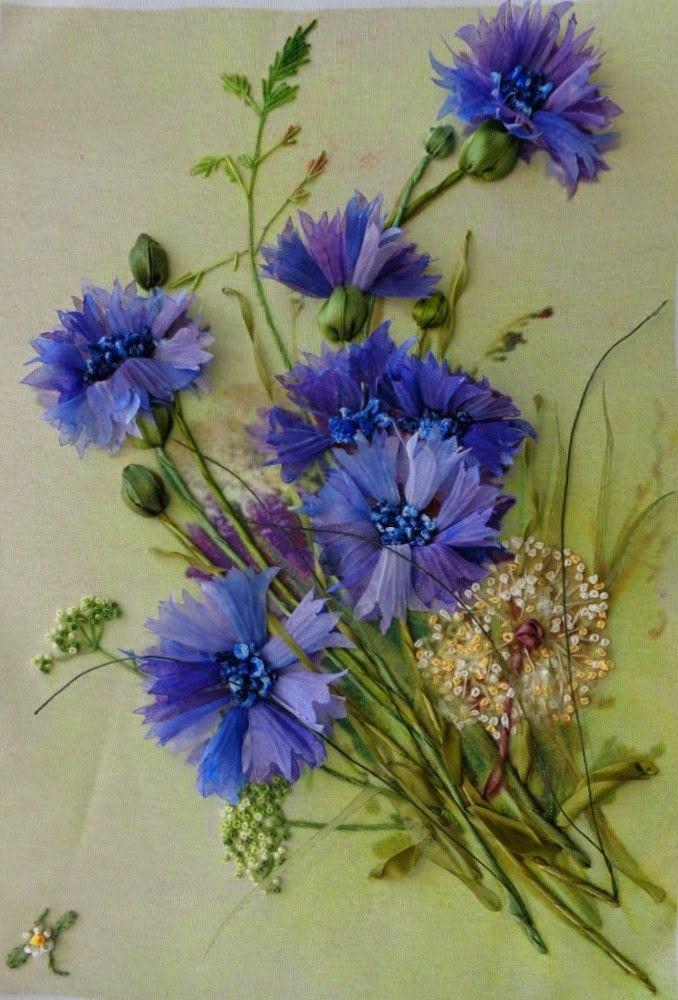 Схемы вышивки крестом цветы двумя цветами 336