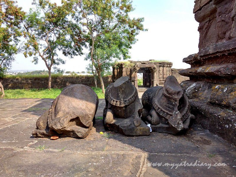 Ruins in the off beat Gondeshwar Temple in Sinnar near Nashik, Maharashtra