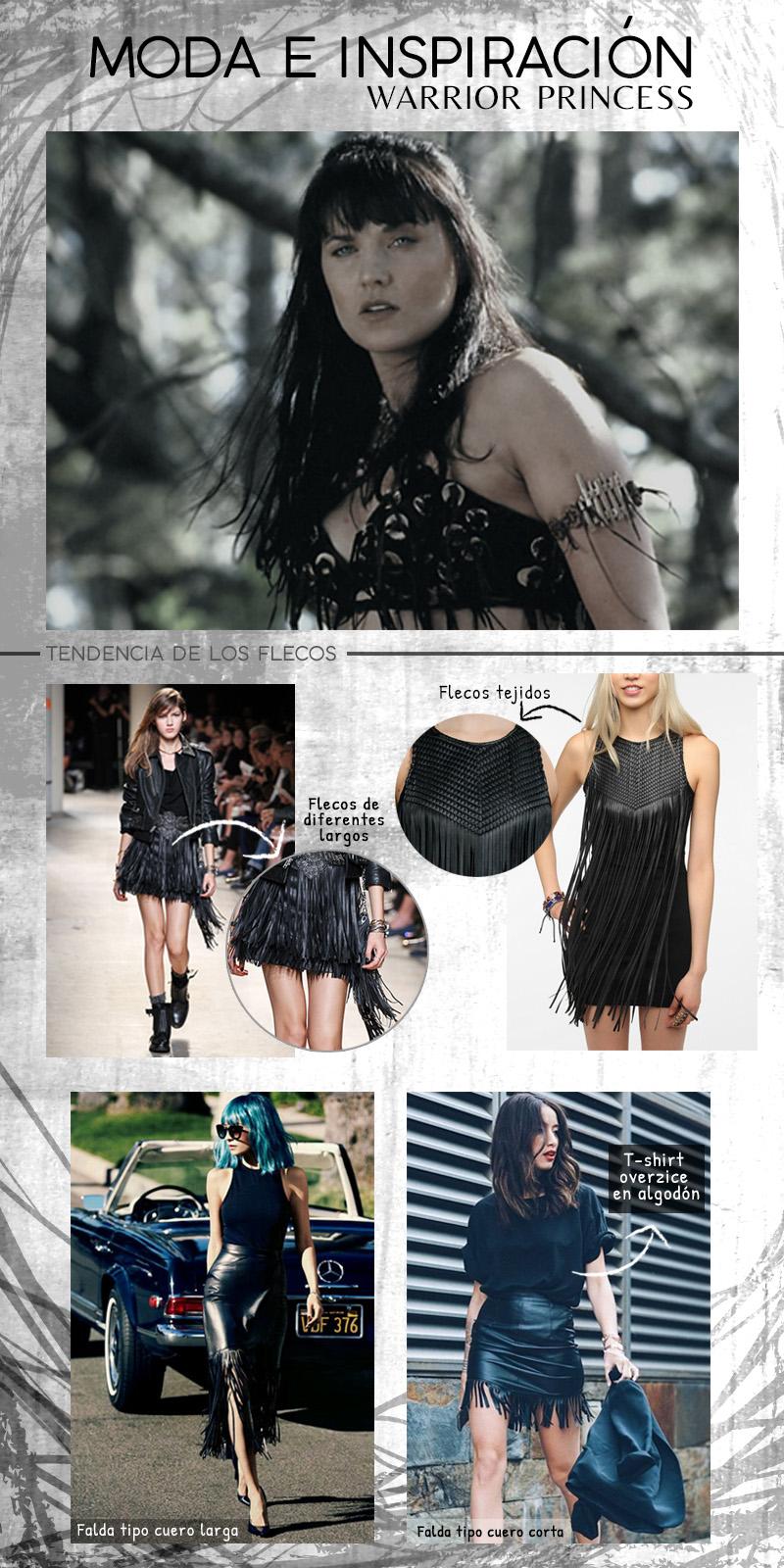 Moda y estilo oscuro inspirado en Warrior Princess XENA