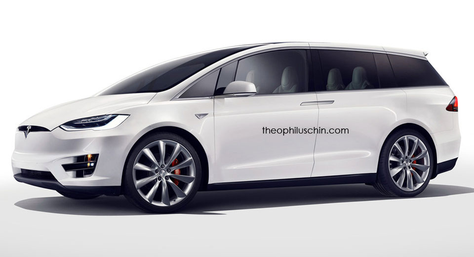 Luxury Car Pictures Wallpaper Tesla Minivan Render Gives Us A Preview Of Next Year S