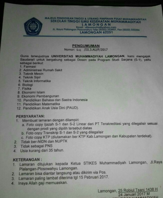 Pengumuman Cpns 2019 Lamongan Informasi Cpns Asn Indonesiainfo Cpns Asn Indonesia 2021