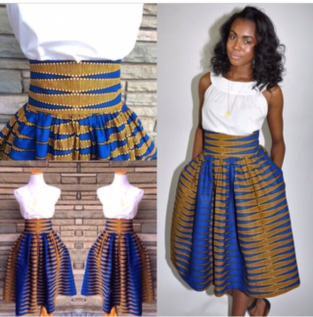 Lovely Ankara High Waist Skirt Design DeZango Fashion Zone