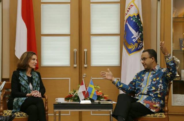 Pesan Anies Ke Dubes Swedia: Jika Niat Investasi, Tenaga Kerja Harus dari Indonesia
