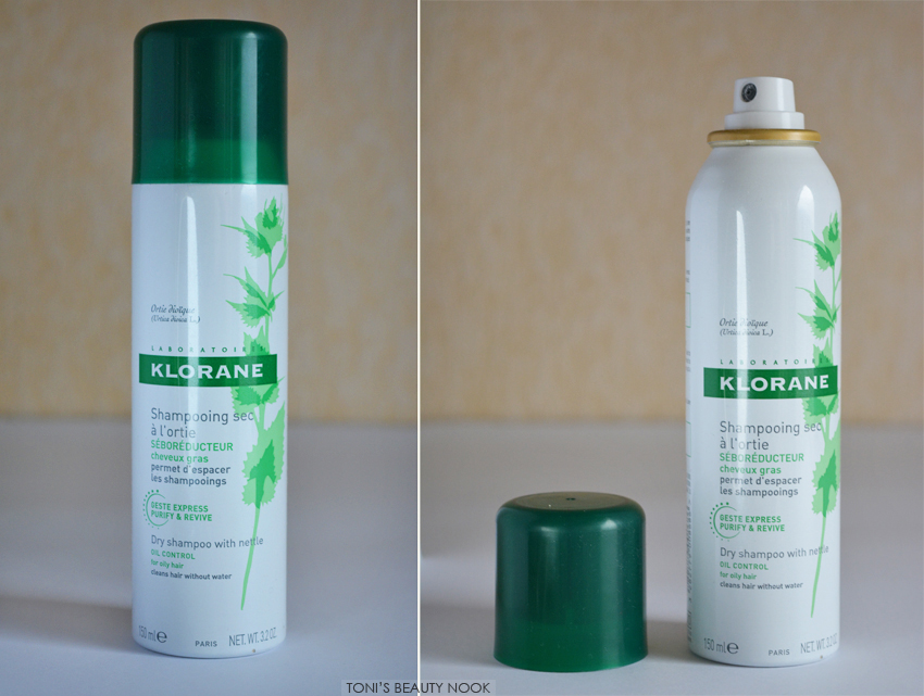 klorane dry shampoo nettle oily hair