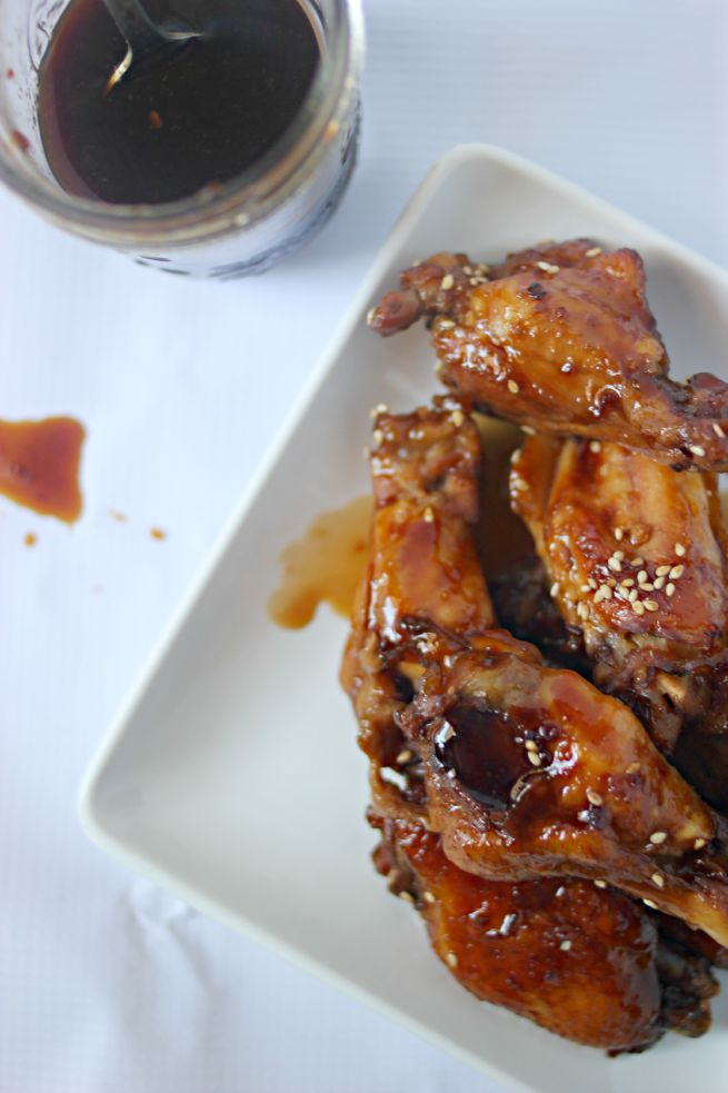 Slow Cooker Spicy Teriyaki Chicken Wings