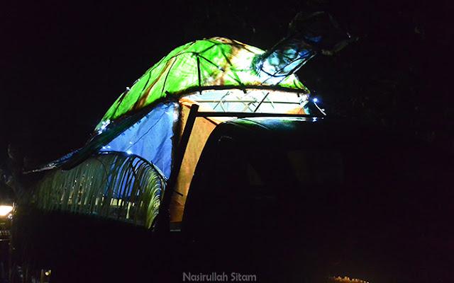 Kreasi hiasan penyu dari kampung Gonipah Tengah