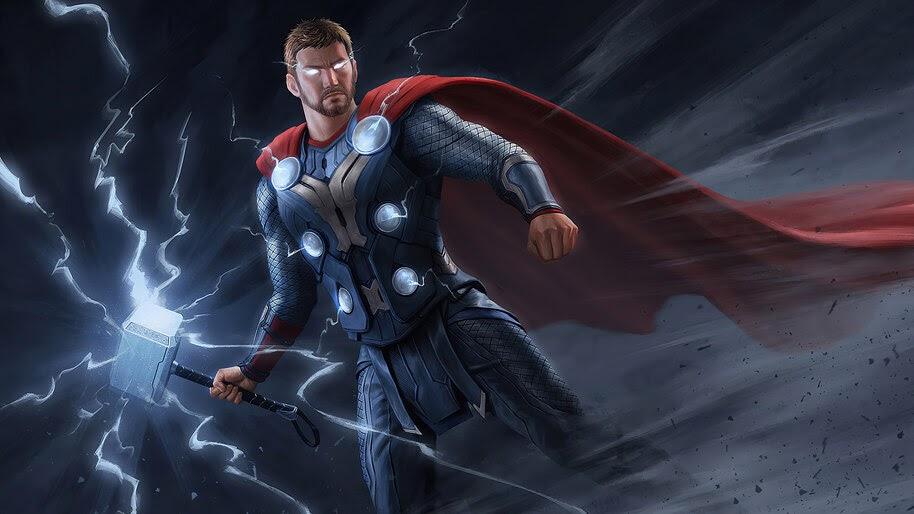 Thor, Mjolnir, Hammer, Marvel, Superhero, 4K, #6.1209