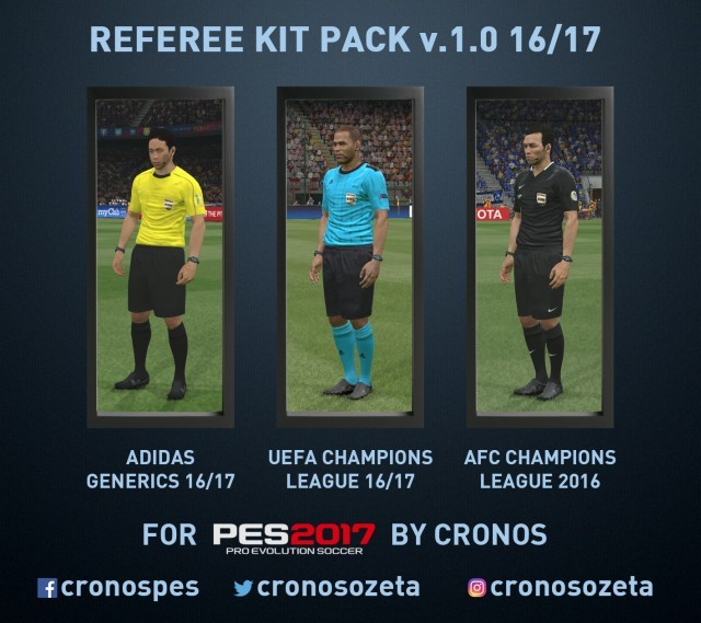 PES 2017 Referee Kits Adidas Generics 2016/2017