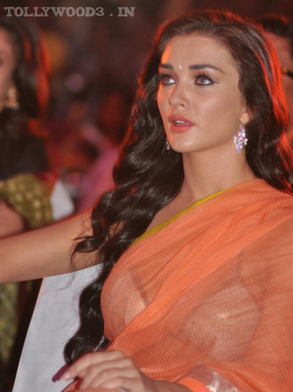 Jackson hot hd photos in transparent orange saree amy jackson hot hd photos in transparent orange saree voltagebd Gallery