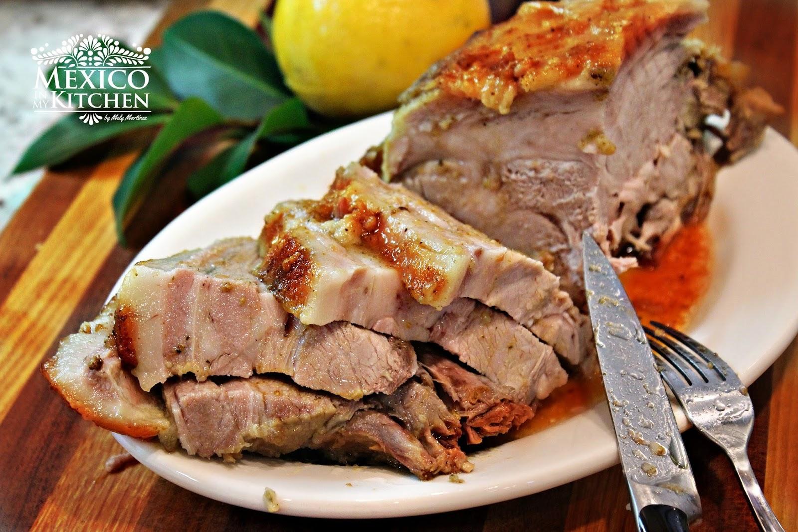 Mexican christmas food - Easy Roasted Pork Leg