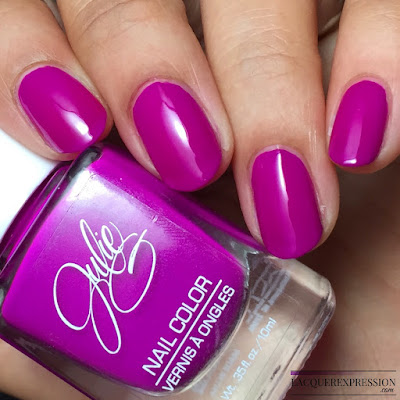 nail polish swatch of JulieG Julie G Fierce and Fab