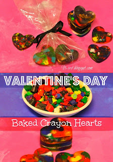 Valentine's Day Baked Crayon Hearts