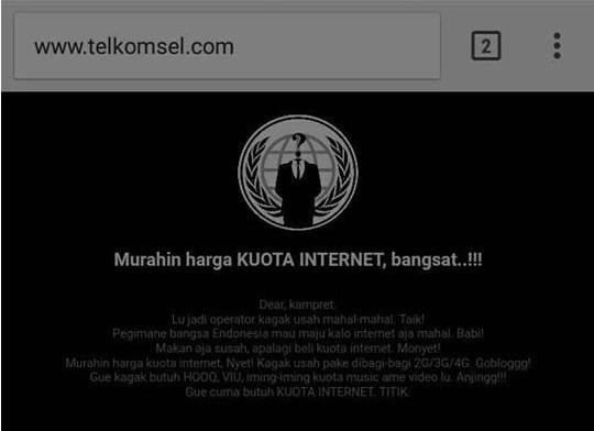 Website Resmi Telkomsel Diretas Oleh Hacker!