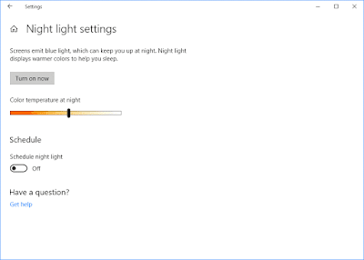 Night light setting in windows 10 : Intelligent computing
